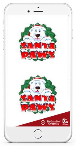 santa paws microgaming mobile casino game